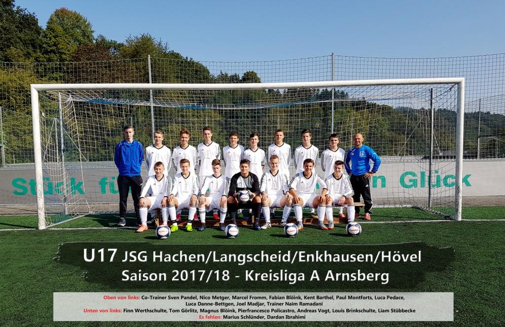 B-Jugend Mannschaftsbild 2017-18