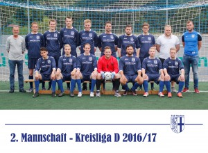 Mannschaftsbild 2. Mannschaft 2016-17