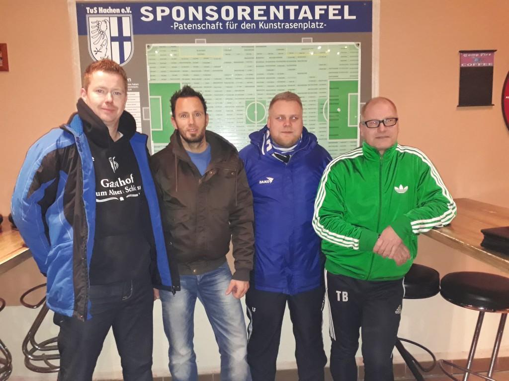 Foto: v.l.n.r. Thomas von der Höh, Heiko Bode, Lucas Fricke und Thomas Baum