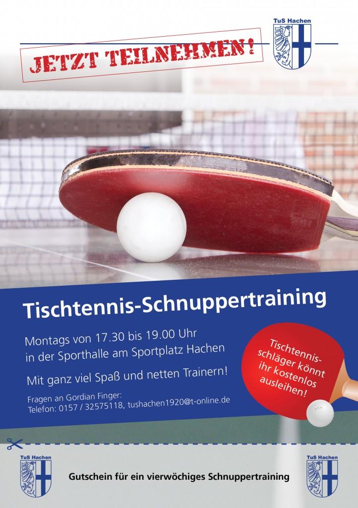 Flyer Tischtennis-Schnuppertraining 3 Ansicht